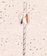 Rose Gold 21st Birthday Straws