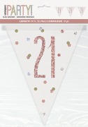 Rose Gold 21st Bunting