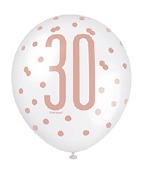 Rose Gold 30th Balloons