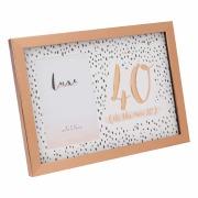 Rose Gold 40th Frame