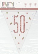 Rose Gold 50th Bunting