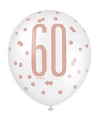 Rose Gold 60th Balloons