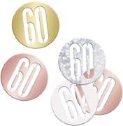 Rose Gold 60th Confetti