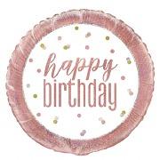 Rose Gold Birthday Balloon