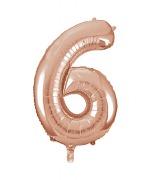 Rose Gold No6 Balloon