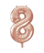 Rose Gold No8 Balloon