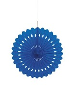 Royal Blue Paper Fan