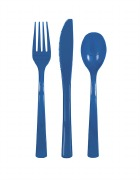 Royal Blue Plastic Cutlery