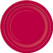 Ruby Red Paper Plates