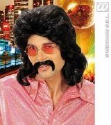 70s Man Black Wig