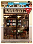 Saloon Backdrop Set