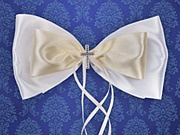 Satin Bow With A Cross