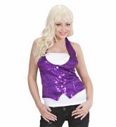 Sequin Purple WaistCoat