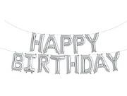 Silver Birthday Balloon Banner