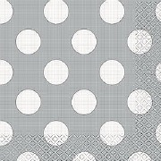 Silver Dots Napkins