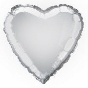 Silver Heart Foil Balloon
