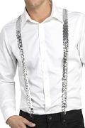 Silver Sequin Braces