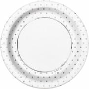 Silver Dots Elegant Plates
