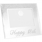 Silver Glitter 18th Frame
