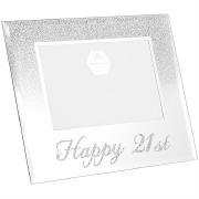 Silver Glitter 21st Frame