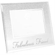 Silver Glitter Friend Frame