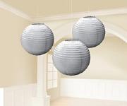 Silver Paper Lanterns