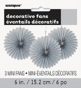 Silver Mini Fan Decortaions