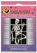 Skeleton Window Silhouette