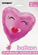 Pink Smiling Heart Balloon