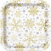 Snowflake Party Plates