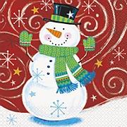 Snowman Swirl Napkins