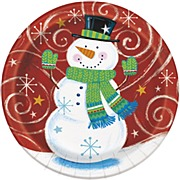 Snowman Swirl Plates