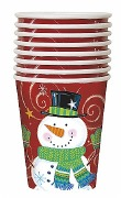 Snowman Swirl Cups