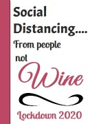 4Pk Social Distance Wine Label