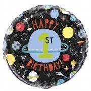 Space 1st Birthday Balloon