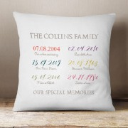 Special Dates Cushion
