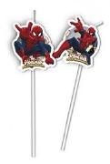 Spiderman Straws
