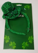 St Patrick Sequin Hat Headband