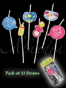 Baby Shower Party Straws