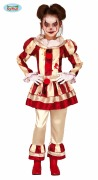Striped Clown Girl Costume