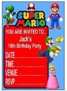 Personalise Super Mario Invite