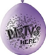 The Party Is Here Balloons