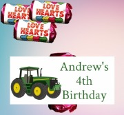 8PK Tractor Loveheart Sweets