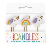 Unicorn Birthday Candles