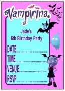 Personalised Vampirina Invites