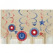 Western Party Swirl Decoration