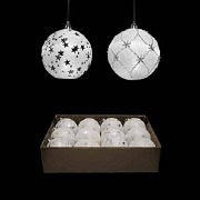 White Light Up Baubles