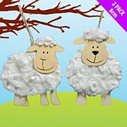 Wooden Fluffy Sheep