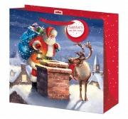 XL Rooftop Santa Gift Bag