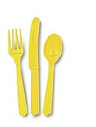 Yellow Cutlery 18 Pack